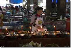 Food at the night markt in Luang Prabang