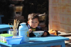 Child eating in Bhamo