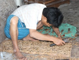 Carving teak in Mandalay.