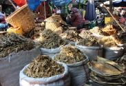 Dried fish in the Mandalay market.