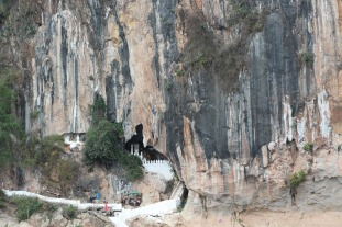 Pak Ou Caves from across the river