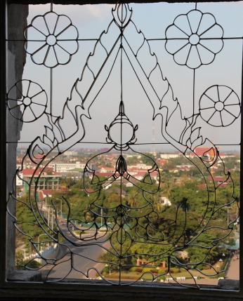 View from Patuxai Monument Vientiane