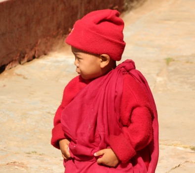 Young monk in Bagan