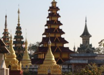 Shwe Baw Kyune Monastery has thousands of pagodas crowded into a very small area.