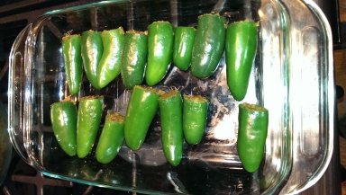 Jalapenos ready to roast