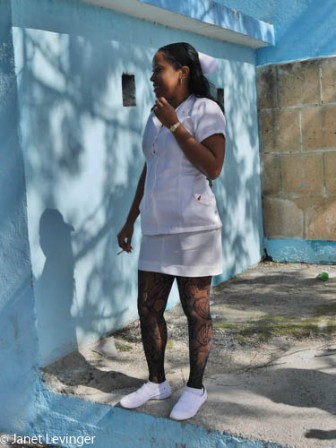 Havana - notice the fishnet stockings on the nurse