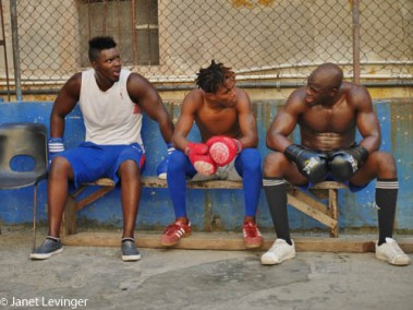 We went to see some boxers practice