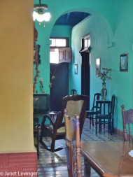 Room in one of the casas