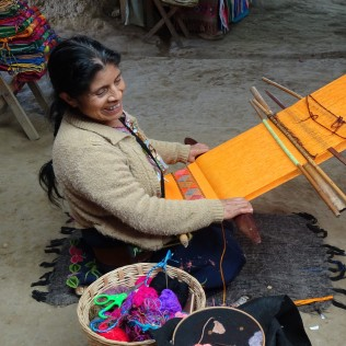 Indigenous Village Zinacantan where women make beautifully embroidered textiles